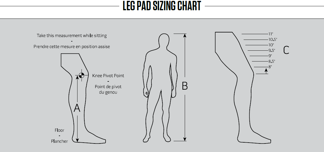 Goalie Leg Pad Sizing Chart – Warrior